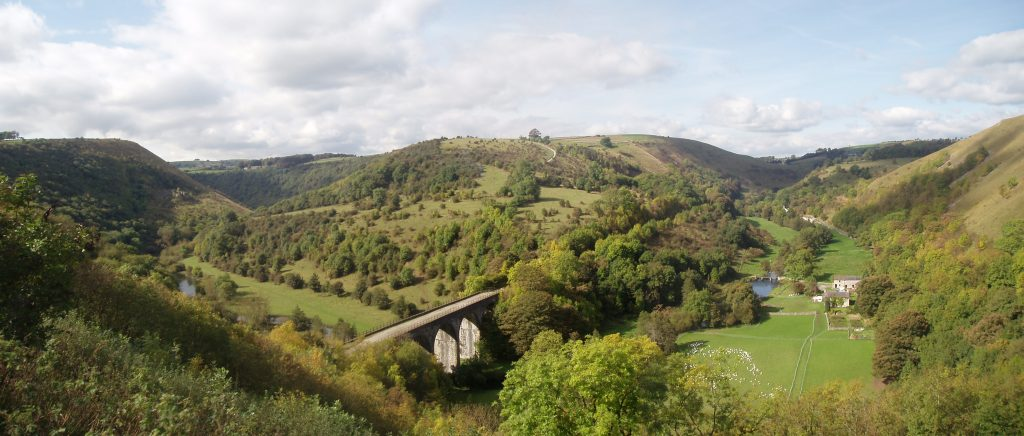 View of the Viaduct from the top of Monsal Head