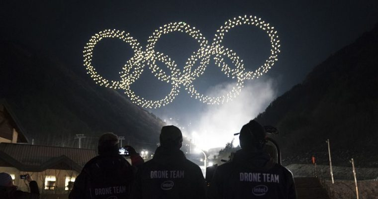 Winter Olympics Intel Drone Display